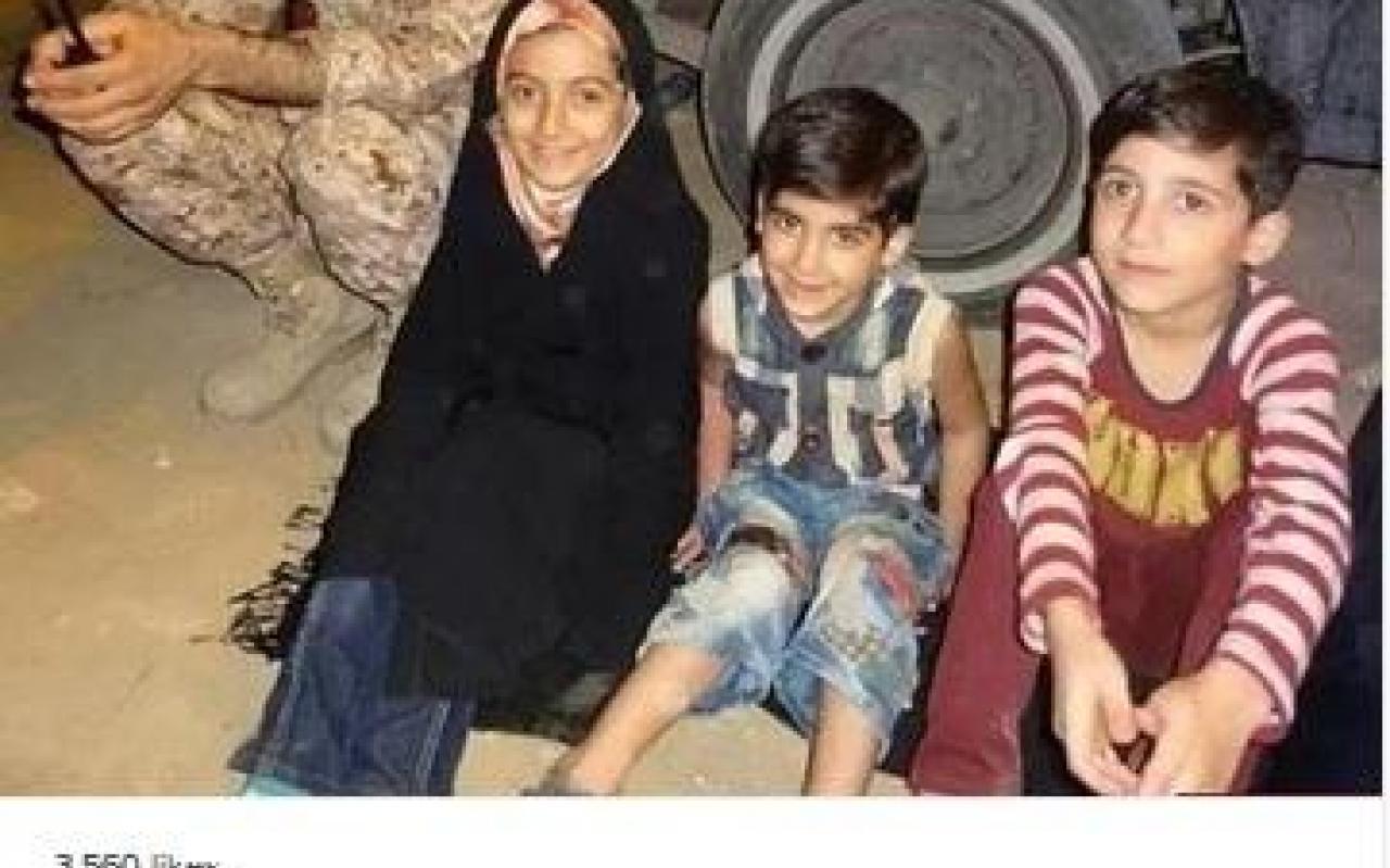 تصویر از خانم مجری و مدافعان حرم +عکس