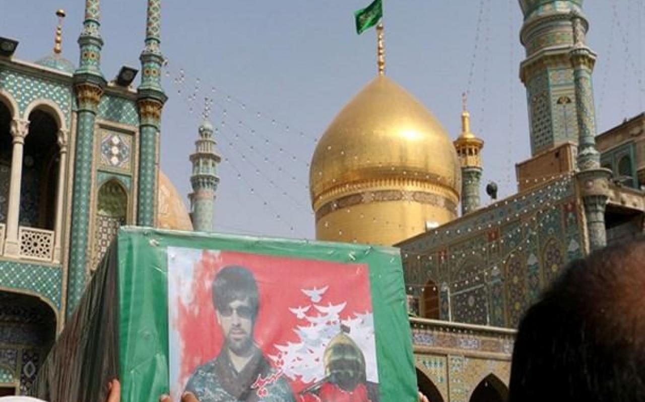 تصویر از تشییع باشکوه ده شهید مدافع حرم در قم + تصاویر