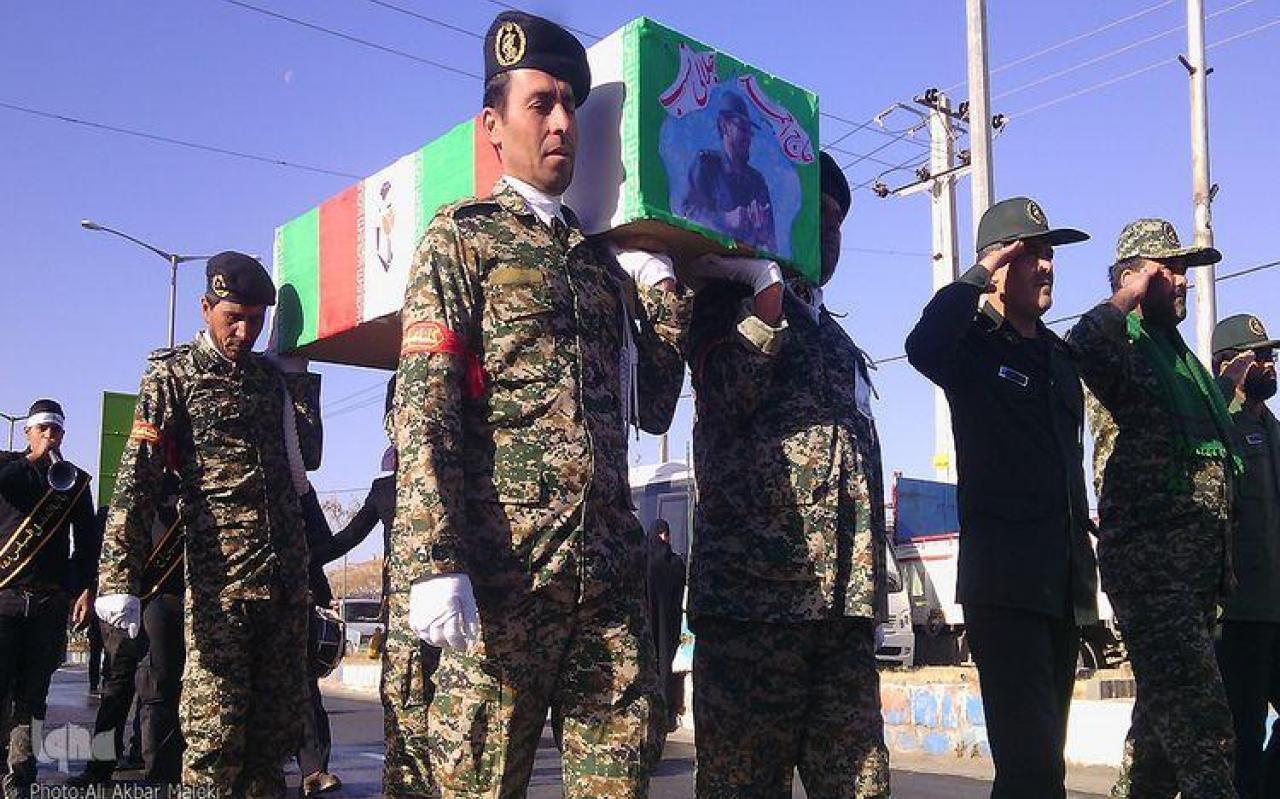 تصویر از تشییع و تدفین اولین شهید مدافع حرم شهرستان خوشاب