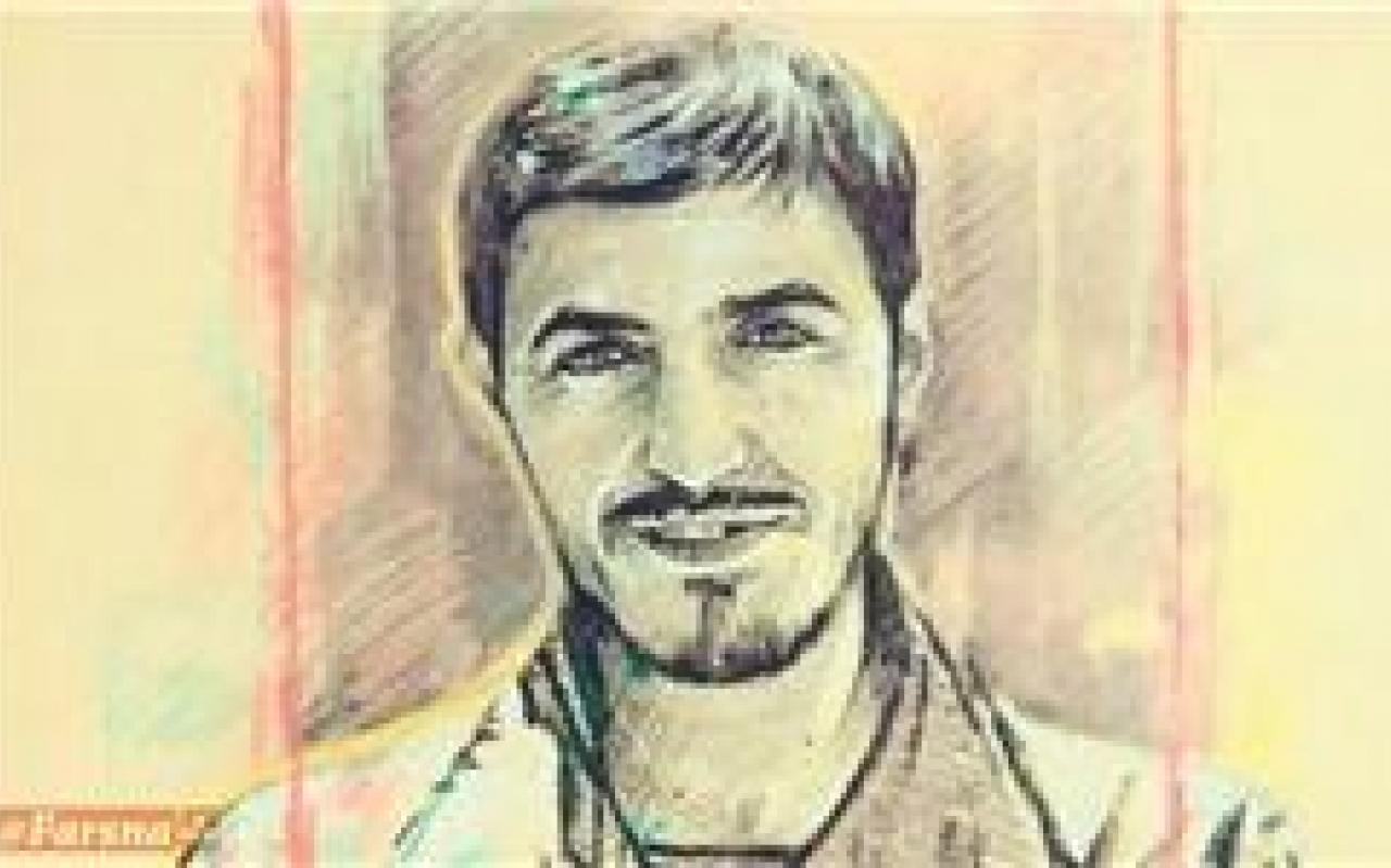 تصویر از نقاشی از شهیدی که غرور آمریکاییها را شکست/شبزندهداری برای آماده کردن هدیه ویژه مادر شهید زینالدین