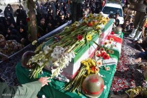 تصویر از پیکر مطهر شهید خواجه صالحانی در پاکدشت تشییع شد