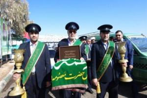 تصویر از حضور خادمان حرم حضرت معصومه (س) در مراکز خدمات نوروزی قم + تصاویر
