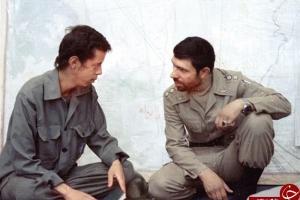 تصویر از شهید صیاد شیرازی و شهید حسن باقری در یک قاب