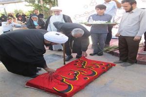 تصویر از رونمایی از سنگ مزار شهید مدافع حرم محمود شفیعی + گزارش تصویری