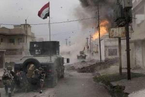 تصویر از کشف ۳ گور جمعی در الانبار/داعش در غرب موصل به تله افتاده است