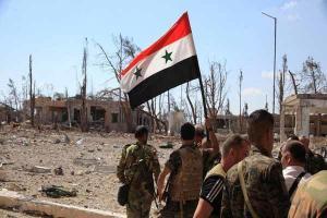 تصویر از تسلط ارتش بر ۳ تپه در حمص/آزادی کامل شهر الطبقه وسد فرات از داعش