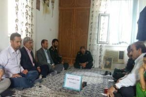 تصویر از دیدار مسئولین شهرستان رامیان با خانواده شهید توکلی+ تصاویر