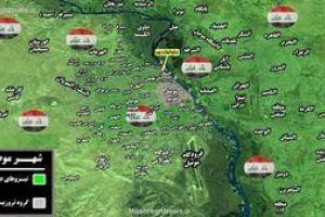 تصویر از نقشه میدانی موصل پس از آزادی محله الزنجیلی؛ فقط دو محله در اشغال داعش +نقشه میدانی