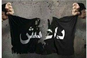 تصویر از تروریستهای داعش یکی از اعضای خود را در استان صلاح الدین عراق زنده سوزاندند