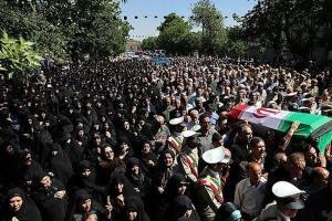 تصویر از پیکر شهید مدافع حرم «کاظم ابراهیمی» در اسلامشهر تشییع شد