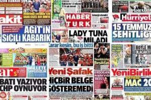 تصویر از سرخط روزنامه های ترکیه / جمعه دوم تیرماه ماه ۹۶