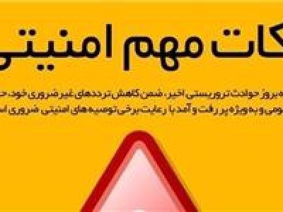 تصویر از اینفوگرافیک/ نکات مهم امنیتی
