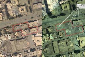تصویر از تصویر ماهوارهای از محل کشته شدن البغدادی