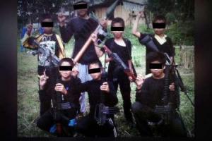 تصویر از کودکان ۷ تا ۱۶ ساله، تک تیراندازان گروه تروریستی مائوته