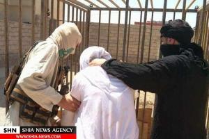 تصویر از فریادهای زن جوان ایزدی در قفس آتشین داعش + تصاویر