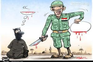 تصویر از کاریکاتور/ سرنگونیِ خلافت داعش درموصل