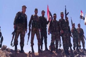تصویر از دستاورد میدانی مهم ارتش سوریه در نزدیکی مرز اردن/عملیات نظامی در قلمون غربی برای نابودی داعش