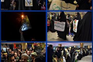 تصویر از استقبال مردم وخادمان حرم رضوی ازخانواده شهیدحججی+عکس