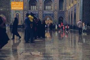 تصویر از عکس/ بارش باران تابستانی در حرم امام رضا(ع)
