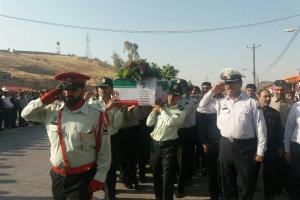 تصویر از آئین بدرقه شهید نیروی انتظامی کهگیلویه و بویراحمد برگزار شد+فیلم