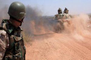 تصویر از پیشروی های ارتش سوریه ضد داعش در دیرالزور