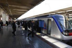 تصویر از آمادگی کامل مترو تهران در مراسم تشییع پیکر شهید حججی