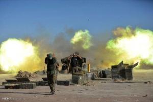 تصویر از شنیده شدن صدای ۲ انفجار در مرز استان های دیالی و صلاح الدین