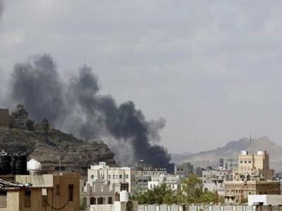 تصویر از تصاویر خرابیهای ناشی از بمباران مدرسه «الفتح» یمن