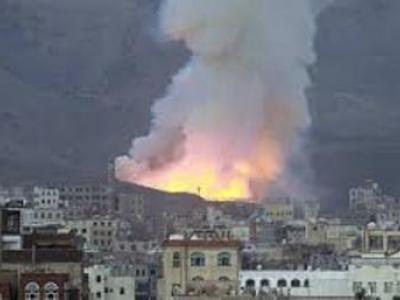 تصویر از حمله جنگنده های عربستان به مارب یمن ۱۳ کشته و ۱۱ زخمی برجا گذاشت