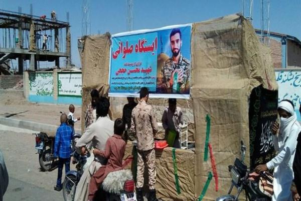 تصویر از برپایی ایستگاه صلواتی به یاد شهیدمحسن حججی در رودبارجنوب + عکس