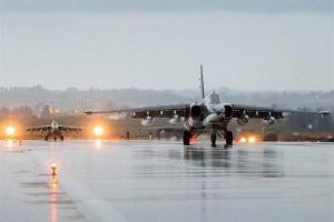 تصویر از افزایش بیسابقه پروازهای جنگندههای روسی بر فراز دیرالزور