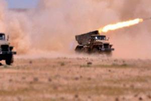 تصویر از عملیات والفجر۳ در بادیه سوریه آغاز شد