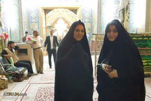 تصویر از بازیگران زن سینما در حرم امیرالمومنین(ع)  + تصاویر