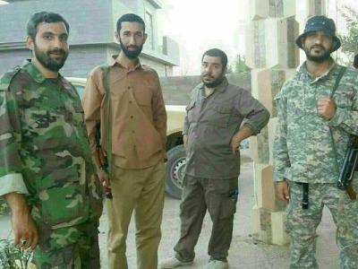 تصویر از تصویر کامل شده چهار شهید مدافع حرم در یک قاب