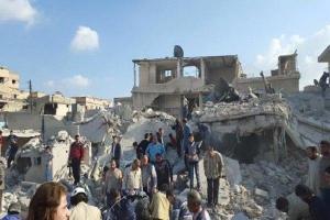 تصویر از ویرانی؛ ارمغان و یادگاری تکفیریهای داعش برای «المیادین» دیرالزور