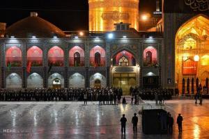 تصویر از مراسم تاریخی خطبه خوانی شب عاشورا در حرم امام رضا(ع) برگزارشد