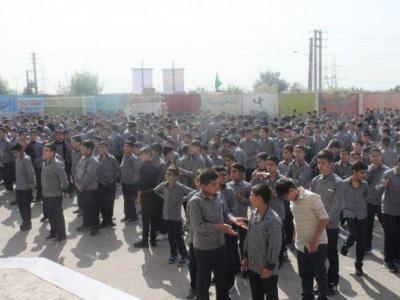 """تصویر از افتتاح یک مدرسه در پرند به نام شهید """"حججی"""""""
