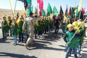تصویر از تصاویر عزاداری شهروندان محاصره شده الفوعه و کفریا در عاشورای حسینی