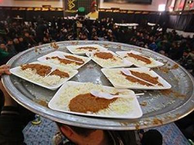 تصویر از اطعام عزاداران حسینی در مرز شلمچه