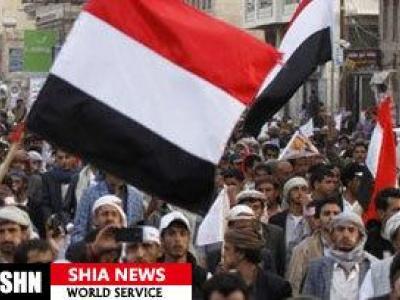 تصویر از راهپیمایی یمنیها در اعتراض به محاصره ظالمانه عربستان