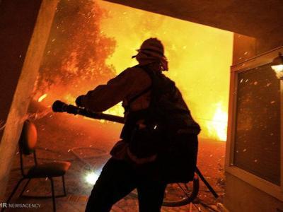 تصویر از آتشسوزی یک منزل در اردوگاه شهید ناصری ساوه/ سوختگی شدید ۴ نفر