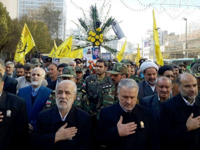 تصویر از تشییع پیکر پاک چهار شهید در مشهد