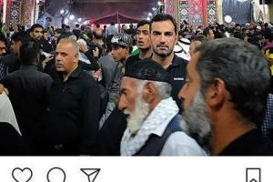 تصویر از عکس: آقای بازیگر در حرم امام حسین (ع)
