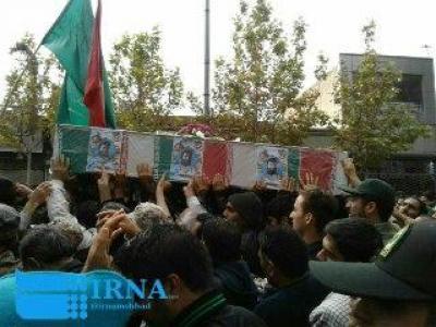 تصویر از پیکر شهید مدافع حرم در سبزوار تشییع شد