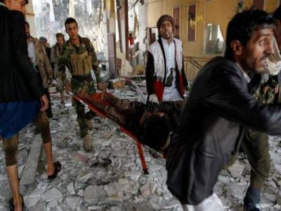 تصویر از حمله سعودیها به استان «صعده»/۷ غیرنظامی شهید شدند