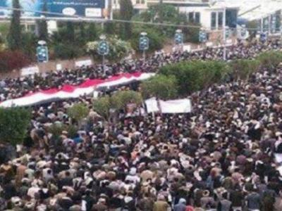 """تصویر از راهپیمایی گسترده در صنعاء در پی """"پشت سرگذاشتن فتنه"""""""