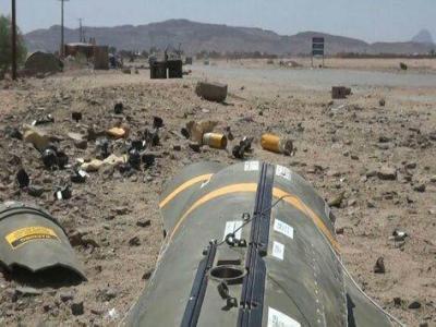 تصویر از تصویر بقایای یکی از بمبهای خوشهای آمریکا در اطراف شهر صنعا