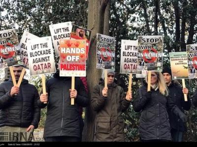 تصویر از لندن/ اعتراض به ادامه جنگ در یمن