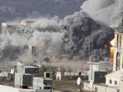 تصویر از شهادت ۴ غیرنظامی در حمله جنگندههای سعودی به «عمران»