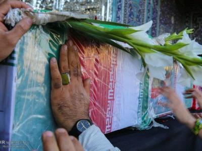 تصویر از پیکر شهید مدافع حرم در نکا تشییع شد